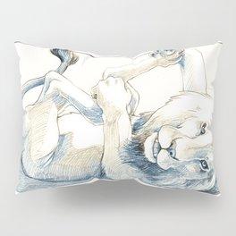 Playful Lion Pillow Sham