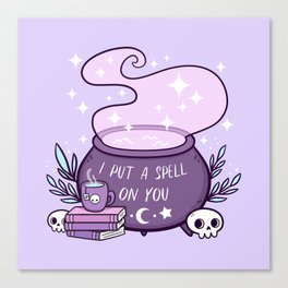 Witch Cauldron // Purple Canvas Print
