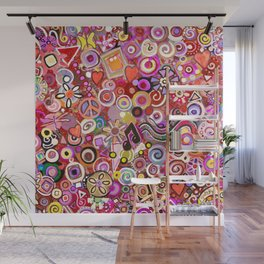 Valentine Painted Abstract Wall Mural