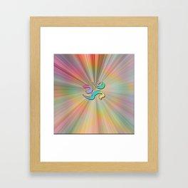 Rainbow Sunburst OM Framed Art Print