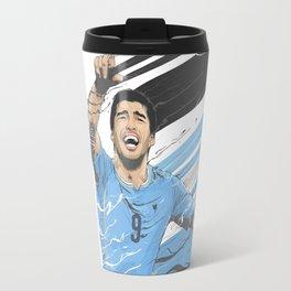 Football Stars: Luis Suarez - Uruguay  Travel Mug
