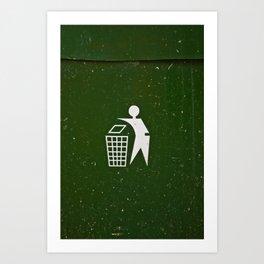 Trash - Put here please! Art Print