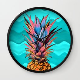 Colorful Pineapple Wall Clock