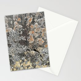 Lichen on the granite rock Stationery Cards