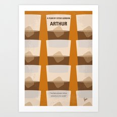No383 My Arthur minimal movie poster Art Print