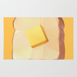 Toast with Butter polygon art Rug