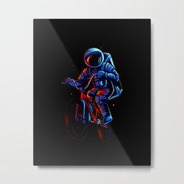 Dirt Bike Astronaut Metal Print