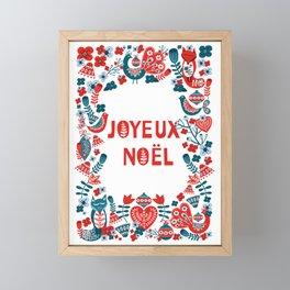 Joyeux Noël Framed Mini Art Print