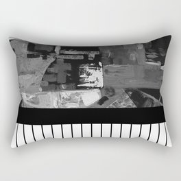 B&W II - Black and white, abstract, contrasting pattern Rectangular Pillow