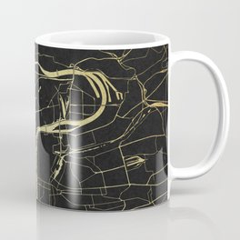 Prague Black and Gold Map Coffee Mug