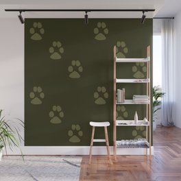 Paw Prints in a Line Wall Mural