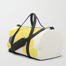Yellow Honeycomb Duffle Bag