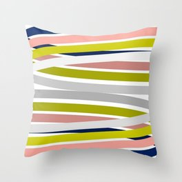 Colorful Strips Throw Pillow