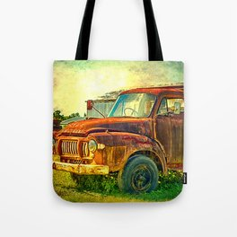 Old Rusty Bedford Truck Tote Bag