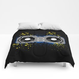 Blue and Yellow Turntables Comforters