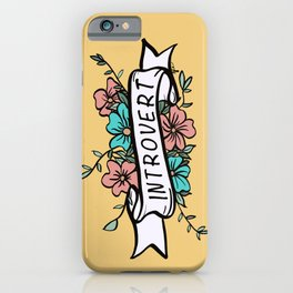 Introvert in Yellow iPhone Case