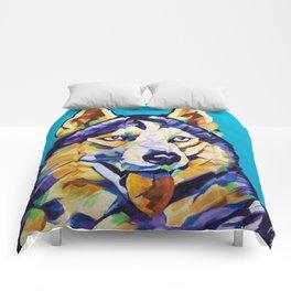 Pop Art Husky Comforters