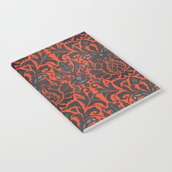 Aya damask orange Notebook
