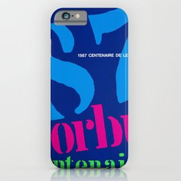 Advertisement corbu centenaire centenaire de le iPhone Case