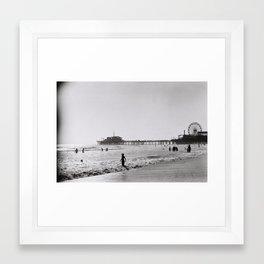 Santa Monica on Film Framed Art Print