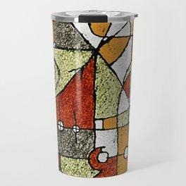 Multicolored Abstract Tribal Print Travel Mug
