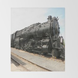Steam Locomotive Number 5021 Sacramento Throw Blanket