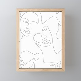 Smile Lines Framed Mini Art Print