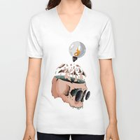 imagine V-neck T-shirts featuring Imagine by PAFF