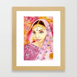 India Bride - Ethnic Art Framed Art Print