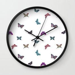 Butterfly Vintage jewels, Butterfly pattern, gemstones Wall Clock