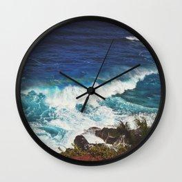 Crashing Waves in Hawaii Wall Clock