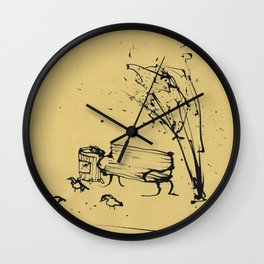 Bench and Birds Wall Clock