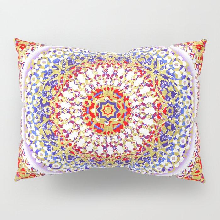 Violet Baroque Mandala Pillow Sham