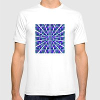 Woven Pixels II Mens Fitted Tee MEDIUM White