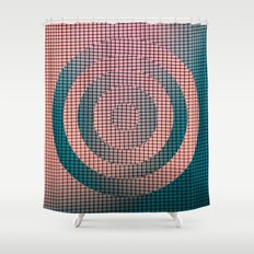Circle Grid Shower Curtain