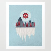 iceland Art Prints featuring Iceland by Chase Kunz