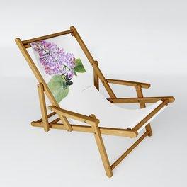 Lilac Love by Teresa Thompson Sling Chair
