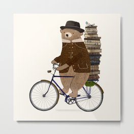 an educated bear Metal Print