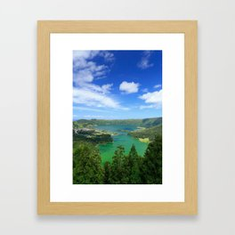 Lakes in Azores Framed Art Print