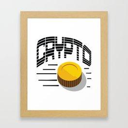 CRYPTO COIN Framed Art Print