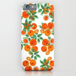 Fresh Orange Juice Pattern iPhone Case