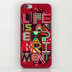 Life is an Experiment iPhone Skin