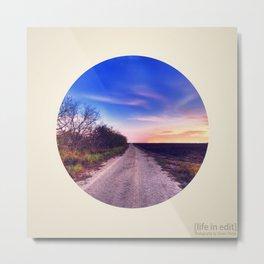 Circular Dirt Road Metal Print