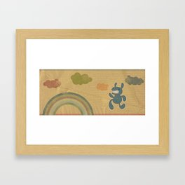 Run Rabbit! Framed Art Print