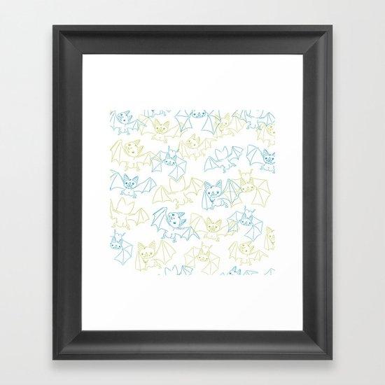 Bat Butts! Framed Art Print