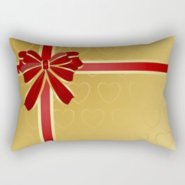 Gift wrapped in red and gold Rectangular Pillow