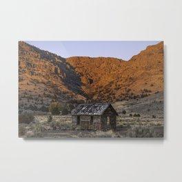 Catlow Cabin Metal Print