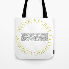 Rue Nothing Block and Circle Logo Tote Bag