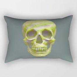 Yellow pop candy skull 3D render. Rectangular Pillow