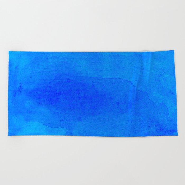 DARK BLUE WATERCOLOR BACKGROUND  Beach Towel